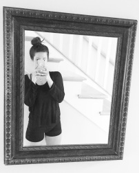 vintage mirror ornant frame
